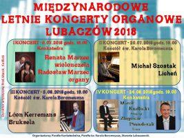 LETNIE KONCERTY ORGANOWE LUBACZÓW 2018