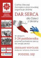 Zbiórka Caritas dla dzieci z Ukrainy