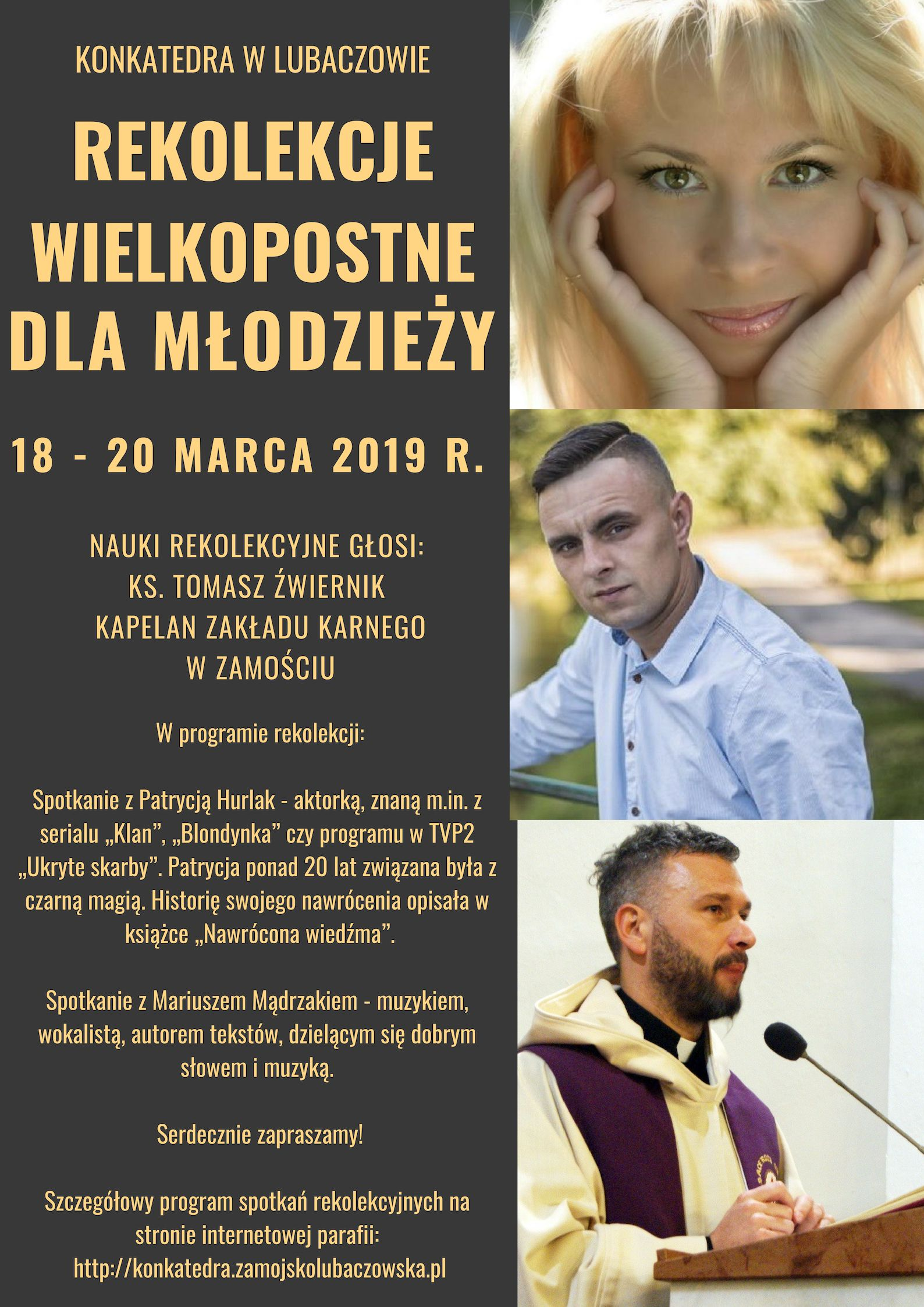 Rekolekcje Wielkopostne dla uczniów LO, ZS, JPII, Sz.P. Nr 2 w Lubaczowie.
