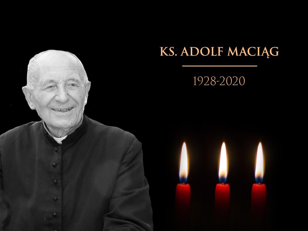 ZMARŁ KS. KAN. ADOLF MACIĄG (L. 92). Wikariusz w Lubaczowie 1963-1968.