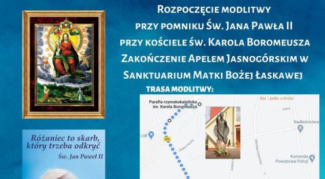 3 Maja procesja ulicami miasta z obrazem Matki Bożej Łaskawej.