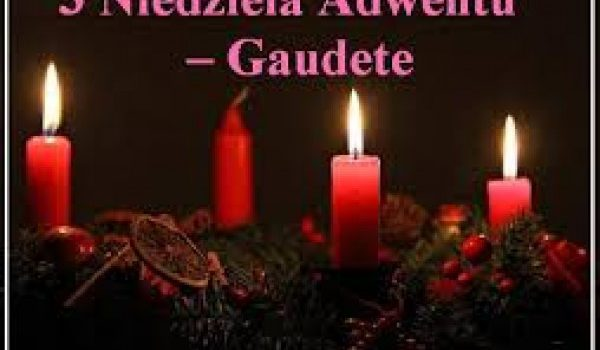Ogłoszenia Duszpasterskie – III Niedziela Adwentu – 13.12.2020 r.