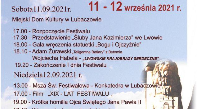 """XX Festiwal Patriotyczny """"BOGU I OJCZYŹNIE""""."""